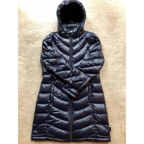 98bd18b99 Calvin Klein long packable down coat navy